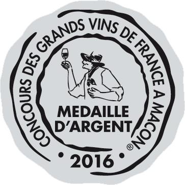 Médaille d'Argent – Clef de St Thomas – Blanc – Millésime 2015