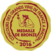 Médaille de Bronze – Clos Victoire – Blanc – 2015