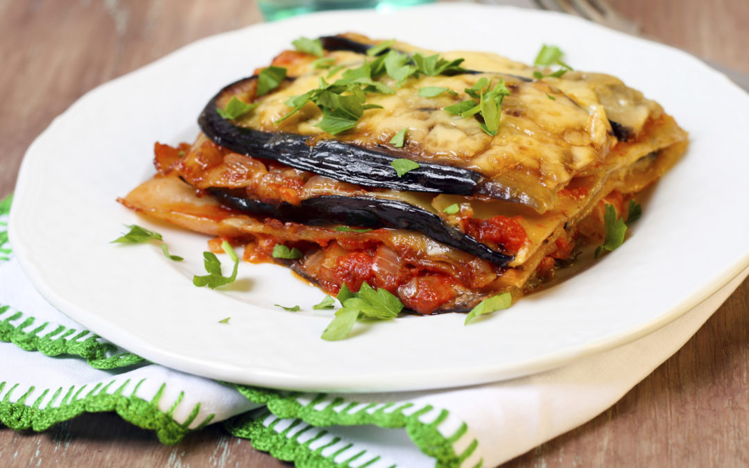 Aubergine, brousse & pistou lasagne