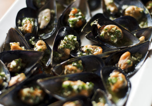 Mussels Stuffed with Pistou