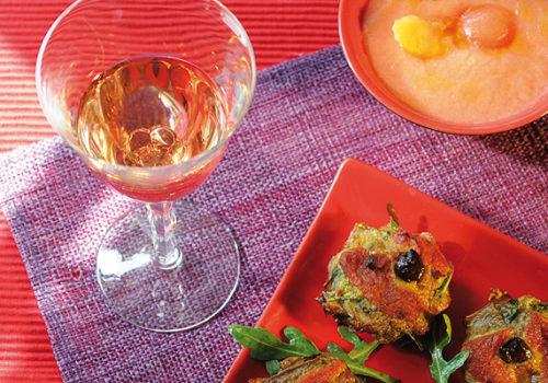 Tartelettes et melon à la tomate