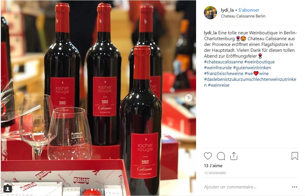Instagram & Château Calissanne aus der Provence