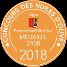 Médaille d'Or – Huile d'olive Font de Leu – Millésime 2017