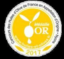 Médaille d'Or – Huile d'olive Sainte-Modeste – Millésime 2016