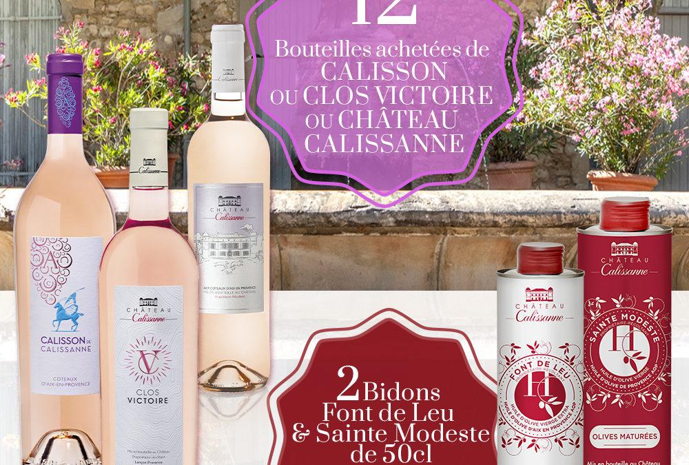 Offre spéciale rosés Château Calissanne
