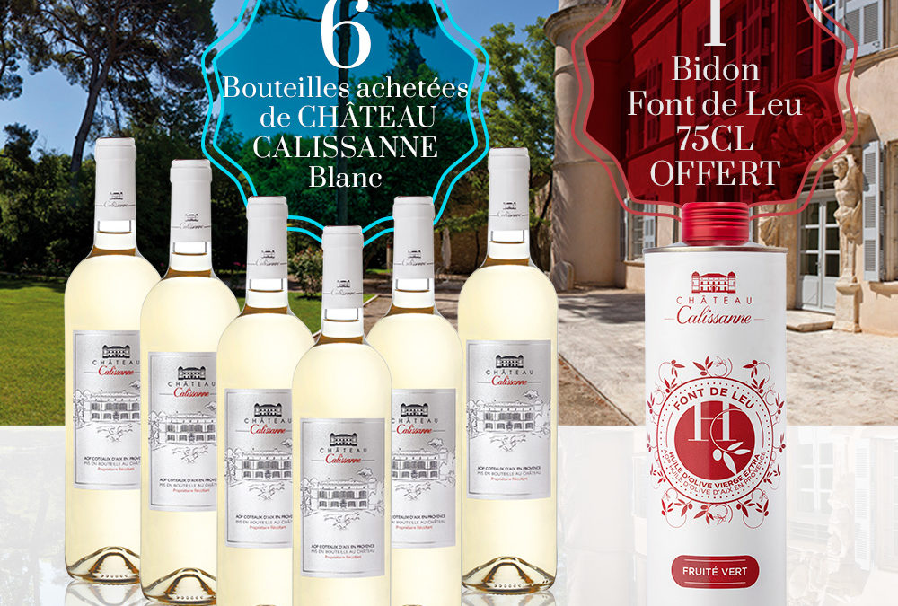 Offre spéciale Château Calissanne blanc