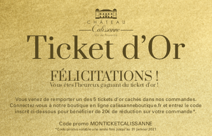 Les tickets d'or Calissanne